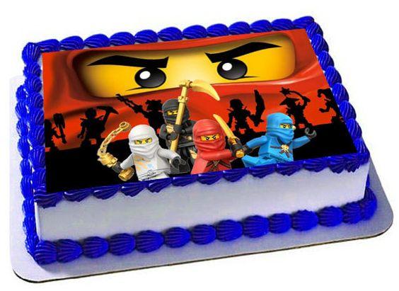 bolo decorado ninjago 2