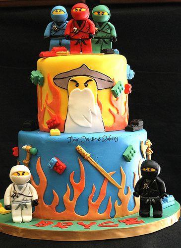 bolo decorado ninjago 3