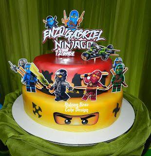 bolo decorado ninjago 7