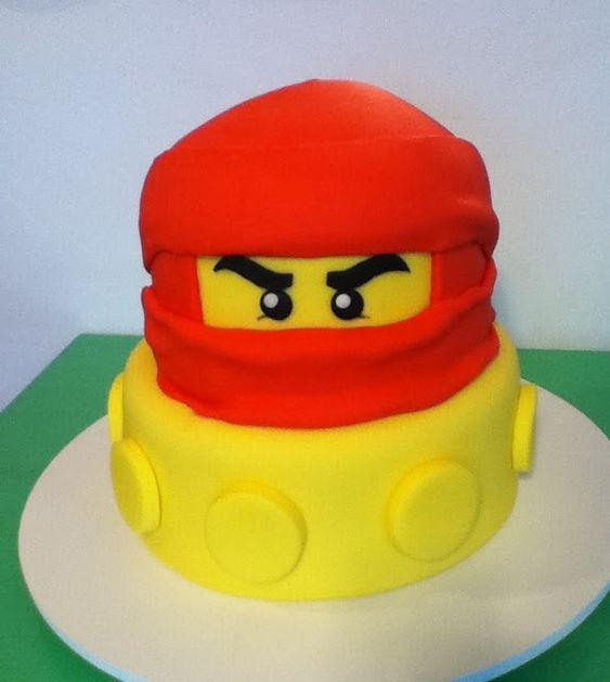 bolo decorado ninjago 8