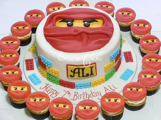 bolo decorado ninjago