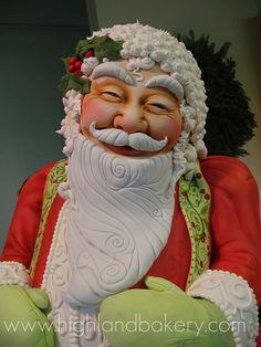 bolo decorado pai natal decorado