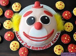 bolo decorado palhaço foto