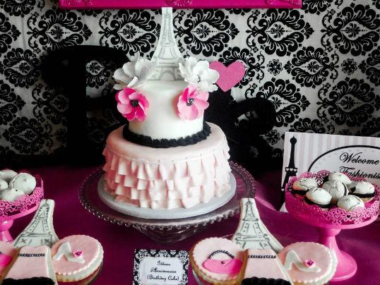 bolo decorado paris