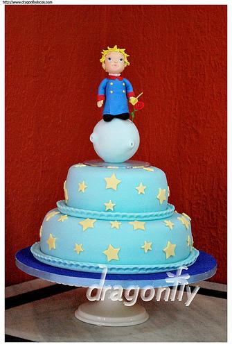 bolo decorado pequeno principe