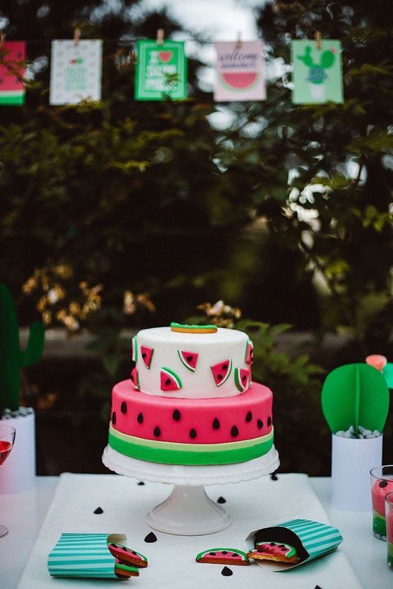 bolo decorado picnic