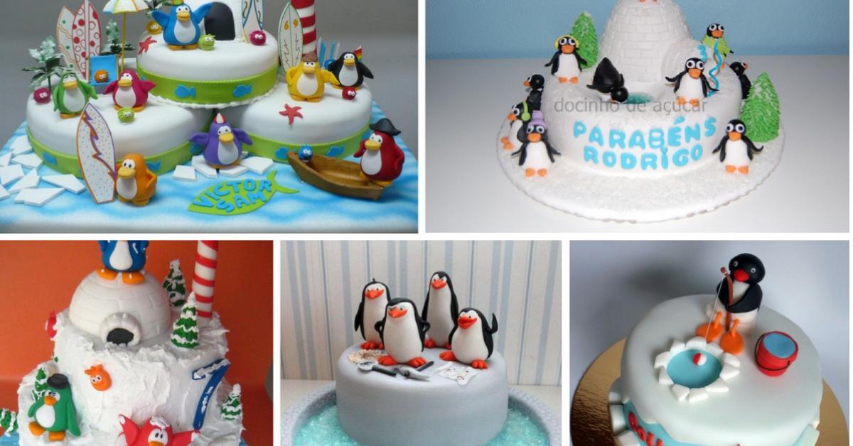 Bolos Decorados Pinguim