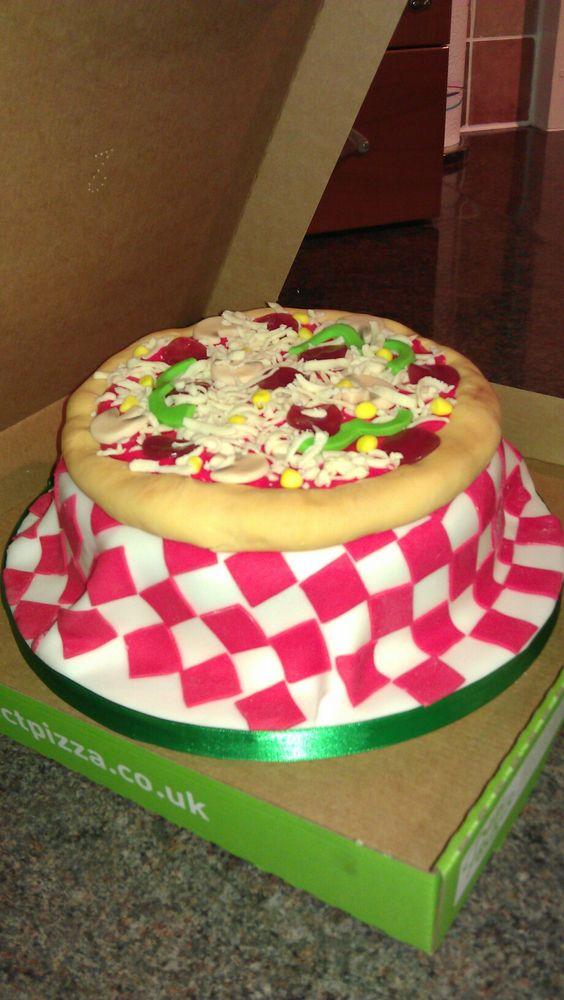 bolo decorado pizza 6
