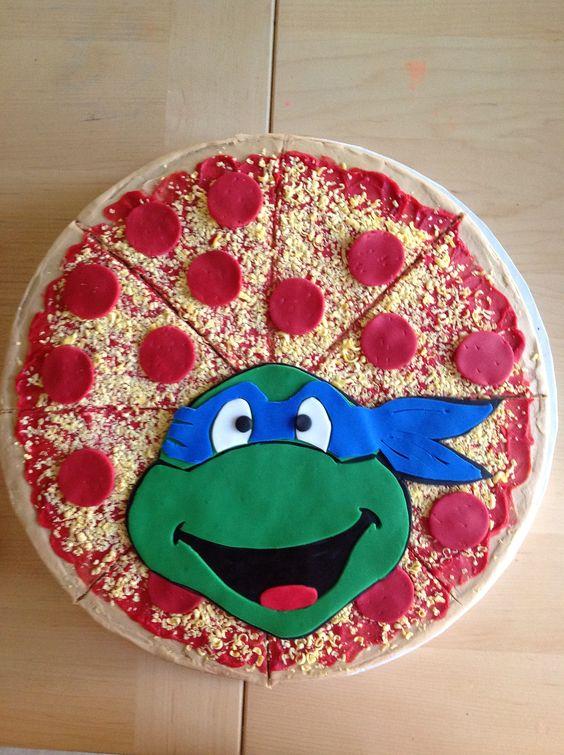 bolo decorado pizza 9