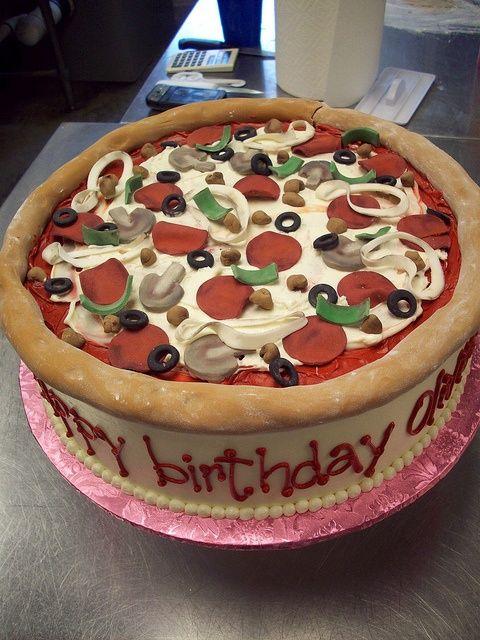 bolo decorado pizza