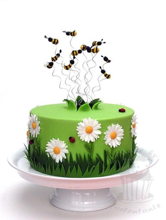 bolo decorado primavera abelha