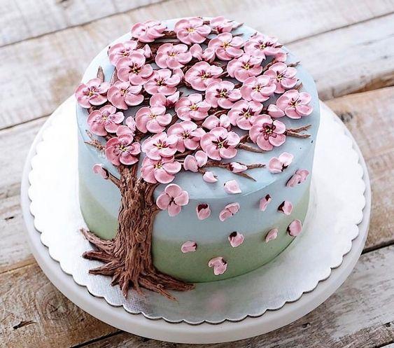 bolo decorado primavera inspiracao