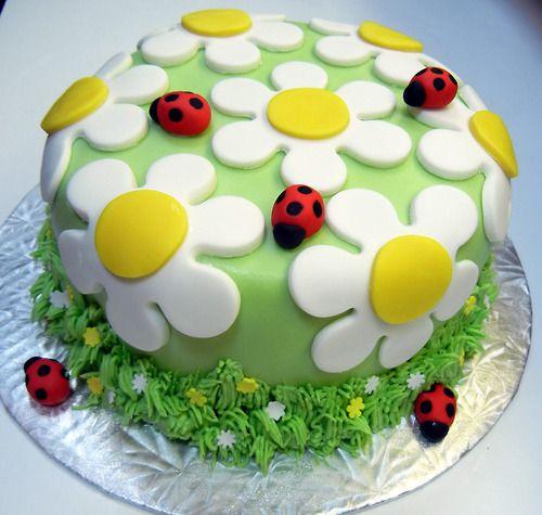 bolo decorado primavera simples