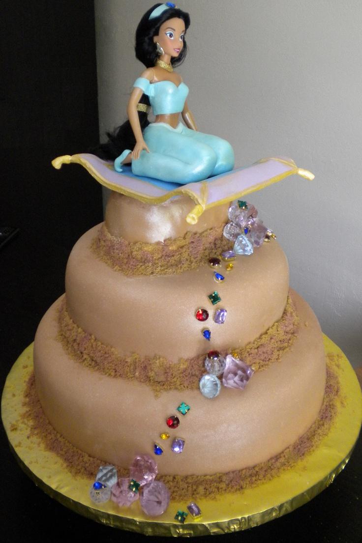 bolo decorado princesa jasmine