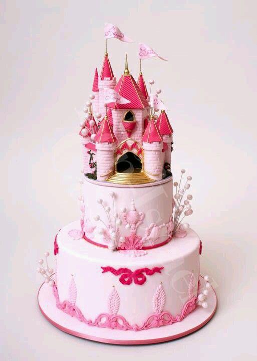 bolo decorado princesa rosa