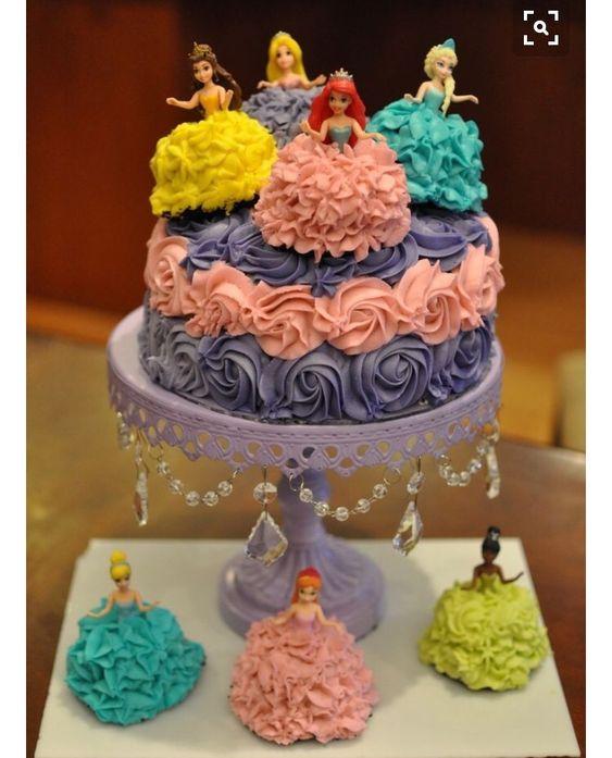 bolo decorado princesas 1