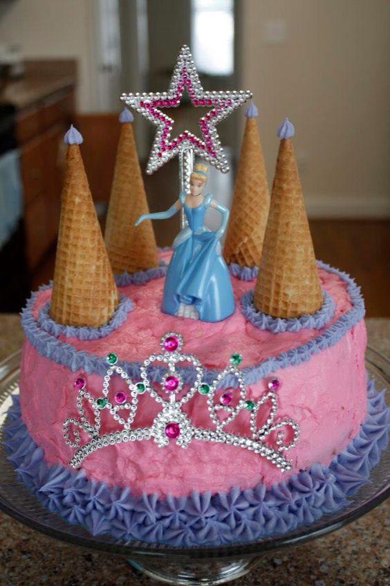 bolo decorado princesas cinderela