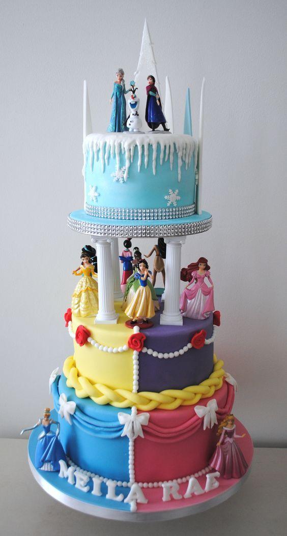 bolo decorado princesas