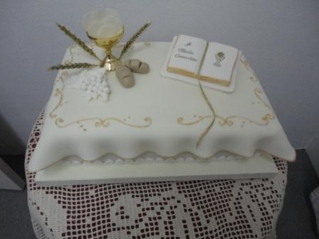 bolo decorado profissao de fe