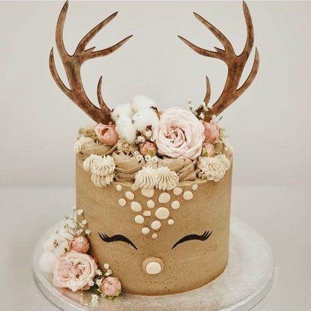 bolo decorado rena 1