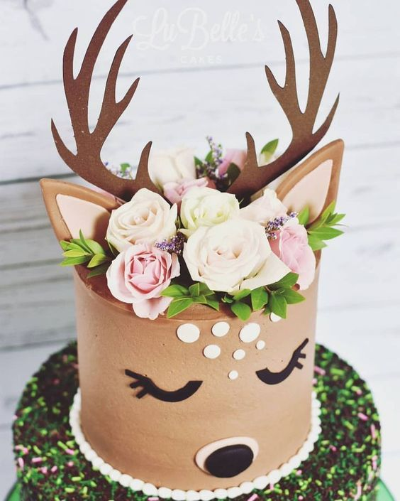 bolo decorado rena 3