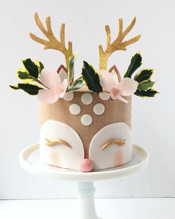 bolo decorado rena ideias