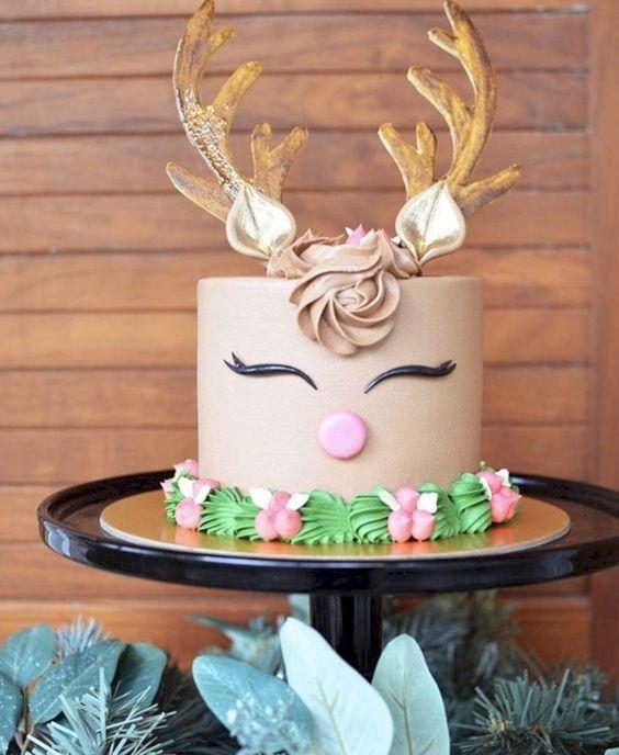 bolo decorado rena inspiracao
