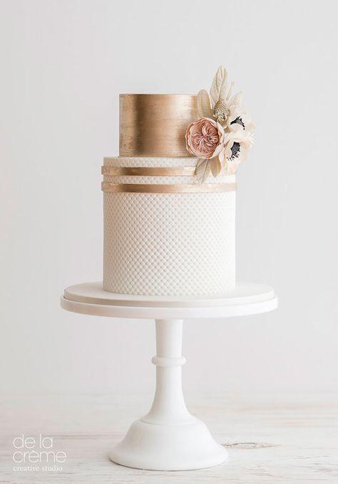 bolo decorado rose gold 1