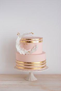 bolo decorado rose gold 2