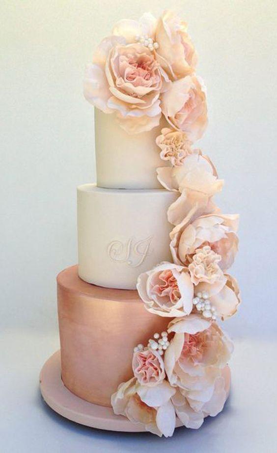 bolo decorado rose gold 4