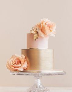 bolo decorado rose gold 6