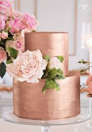bolo decorado rose gold casamento