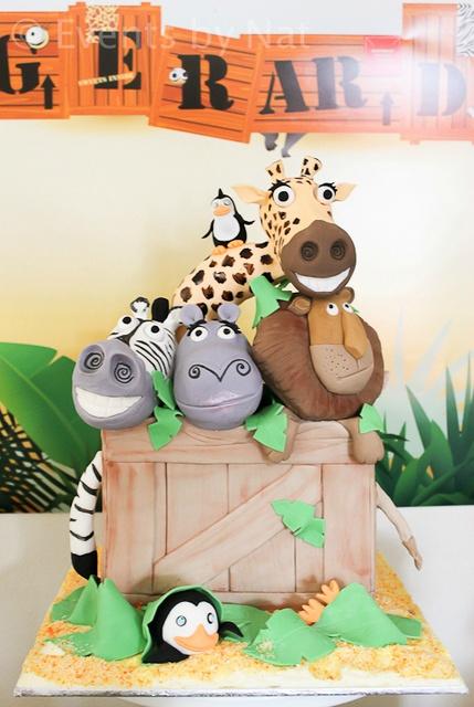 bolo decorado selva safari