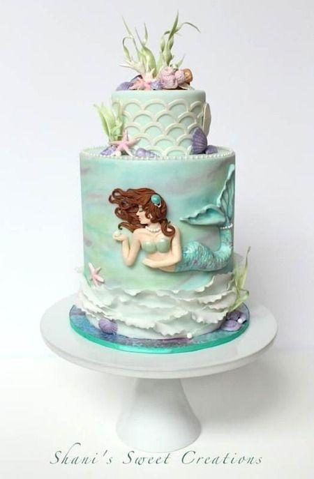 bolo decorado sereia 1