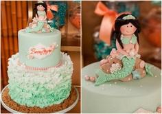 bolo decorado sereia