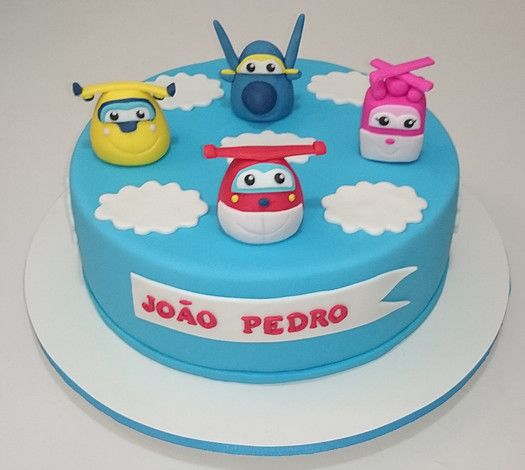 bolo decorado super wings 1