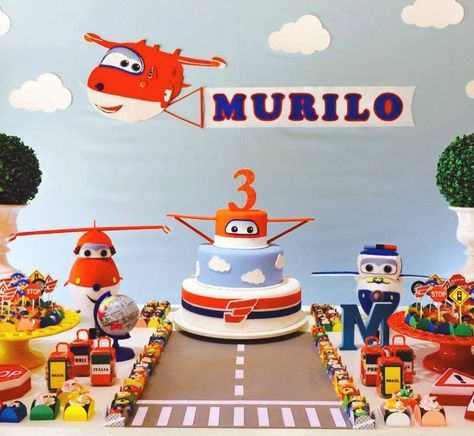 bolo decorado super wings 3
