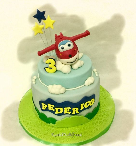 10 Bolos Decorados Super Wings