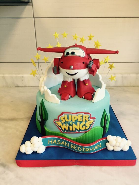 bolo decorado super wings 9