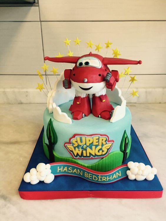 bolo decorado super wings 9