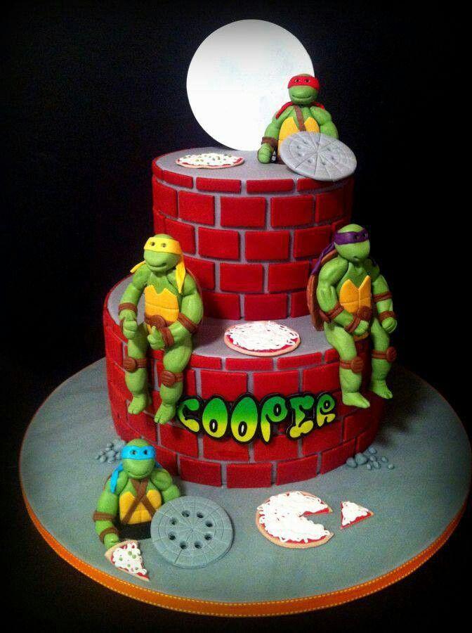 bolo decorado tartarugas ninja