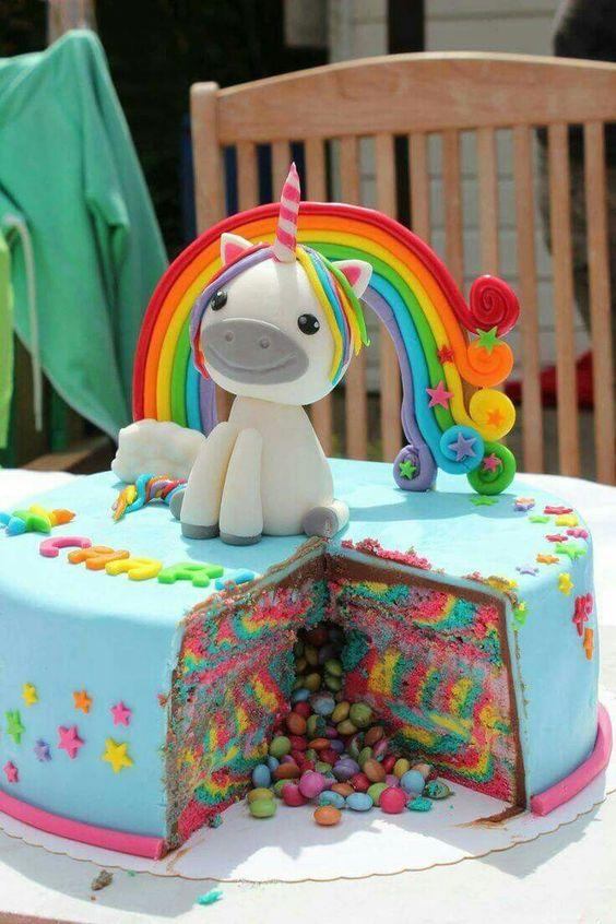bolo decorado unicornio 3