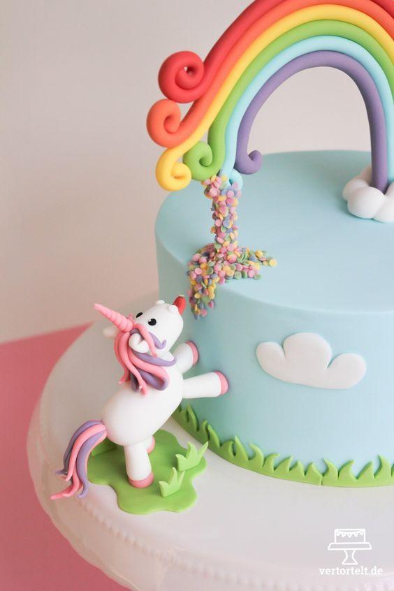 bolo decorado unicornio 9