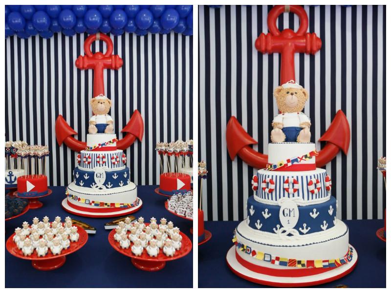 bolo decorado ursinho marinheiro 10