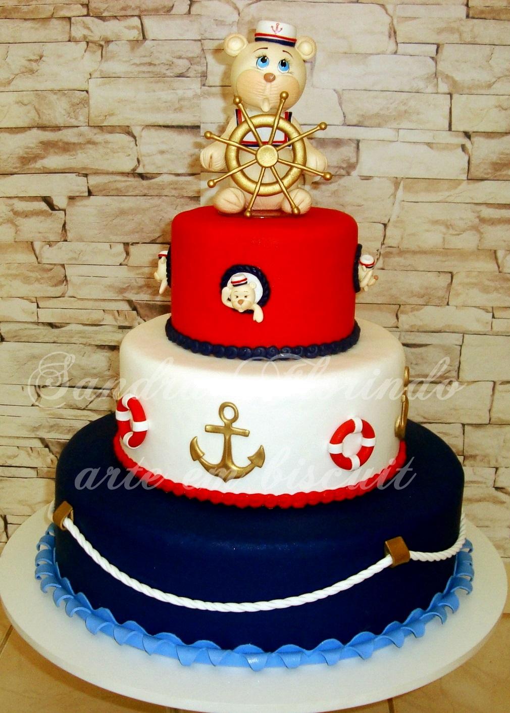 bolo decorado ursinho marinheiro 5