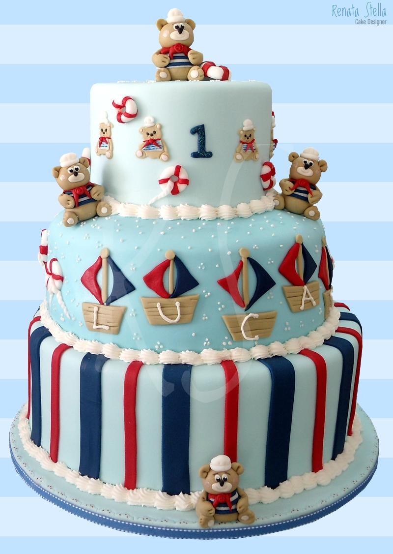 bolo decorado ursinho marinheiro 6