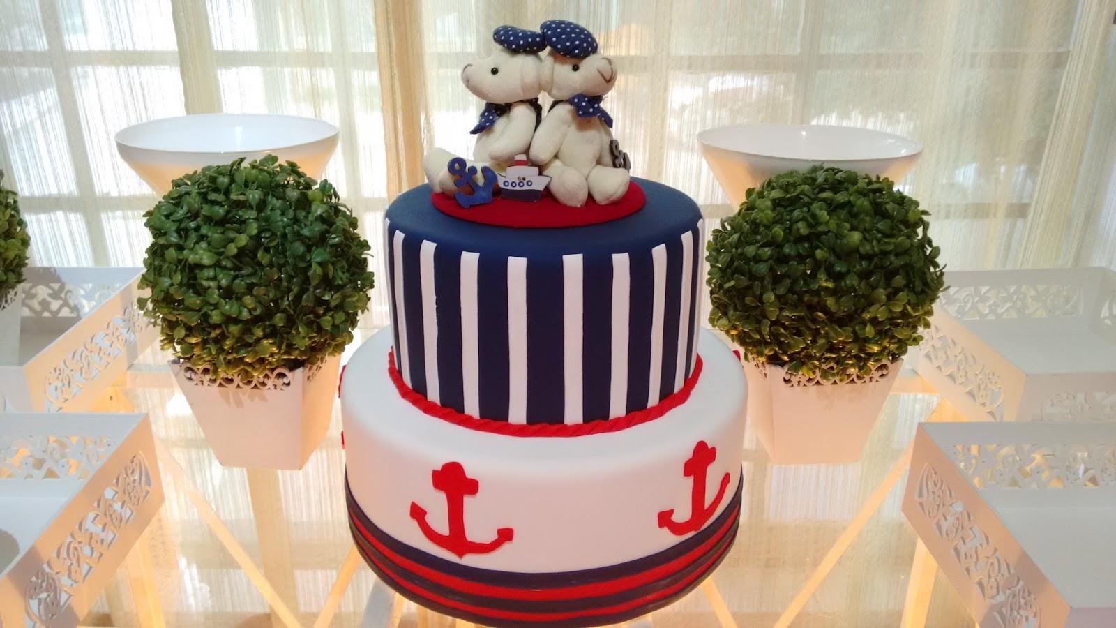 bolo decorado ursinho marinheiro 7
