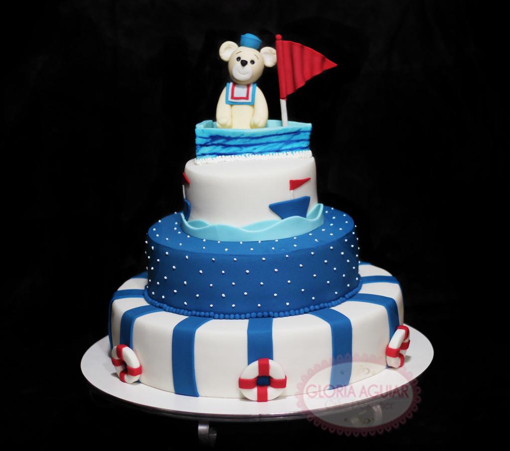 bolo decorado ursinho marinheiro 8