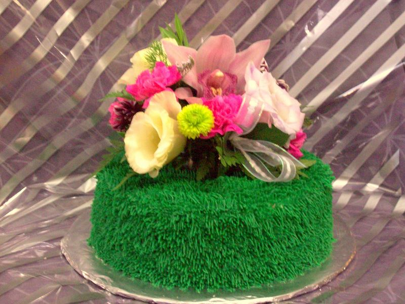 bolo dia da mae flores