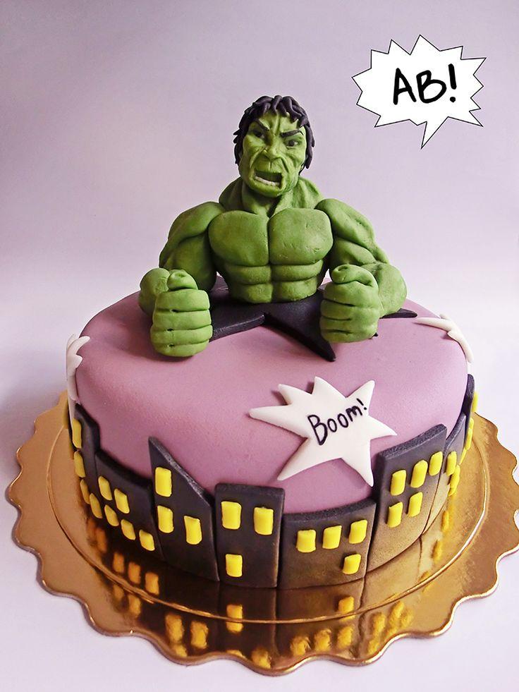 bolo do hulk decorado